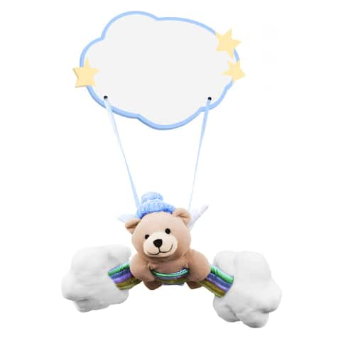 Plush Baby Boy Bear Hanging Name Plaque