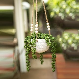 Link to Artificial Plant  String of pearls in Ceramic Hanging - ONE-SIZE Similar Items in Decorative Accessories