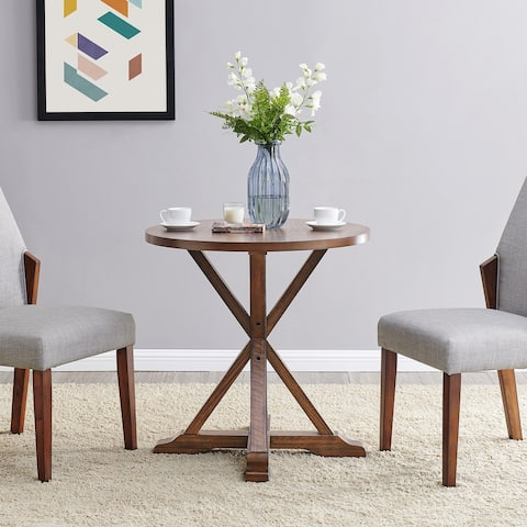 The Gray Barn Barristo Round Brown Wood Dining Table