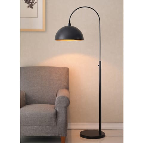 Belynda Black Modern Arc Floor Lamp