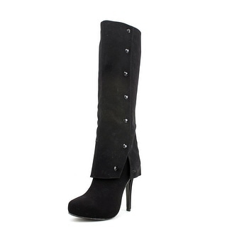 Nina Gage Women Pointed Toe Synthetic Knee High Boot