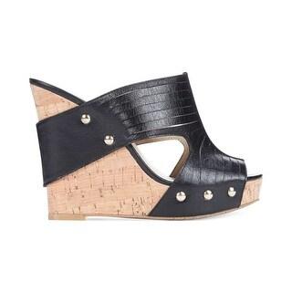 INC International Concepts Vanessa Leather Wedge Sandal