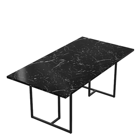 CosmoLiving by Cosmopolitan Edith Rectangular Faux Marble Dining Table