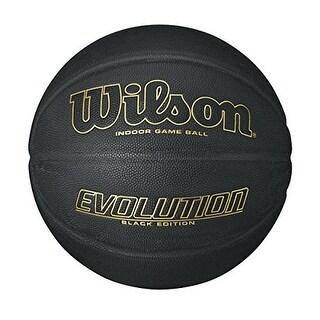 Wilson Evolution Black Edition Official Basketball (29.5 - Black/Gold)