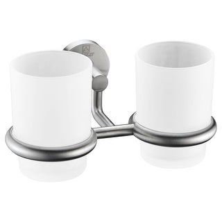 Anzzi AC-AZ002 Caster Wall Mounted Double Toothbrush/Tumbler Holder