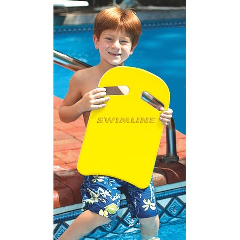 """Sunny Yellow Coach Training and Recreational Foam Kickboard with Handles 16"""" - White"""