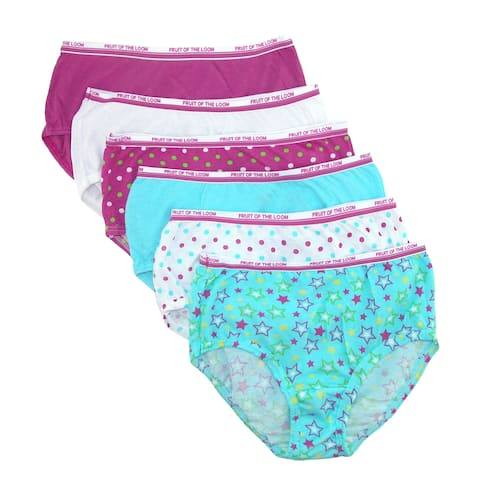 f17f7bb105c2e Fruit of the Loom Girl s Cotton Briefs Underwear (Pack of ...