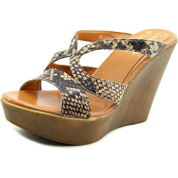 Callisto Janda Women Open Toe Synthetic Brown Wedge Sandal