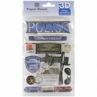 Paper House 3D Stickers-Police