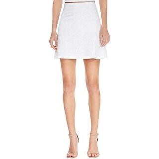 Aqua Womens A-Line Skirt Floral Print Comfort Waist