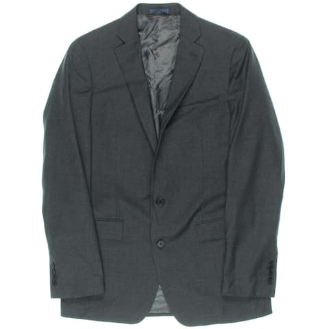 Ryan Seacrest Mens Two-Button Suit Jacket Wool Notch Lapel