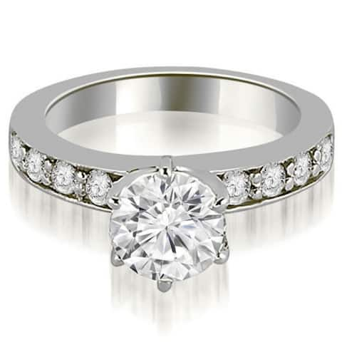 1.40 CT Round Cut Prong Diamond Solitaire Engagement Ring in 14KT Gold - White H-I