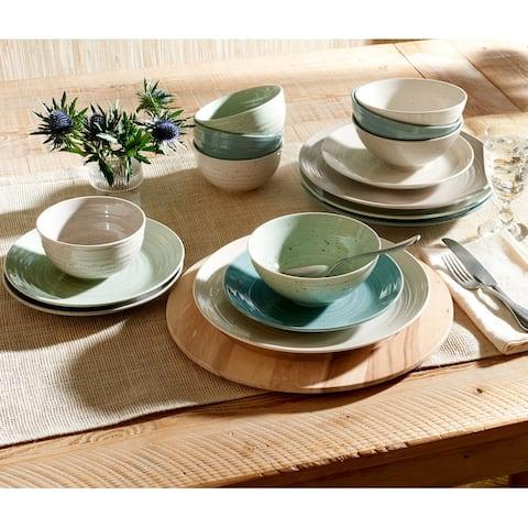 Sango Siterra Artist's Blend 16-Piece Stoneware Dinnerware Set