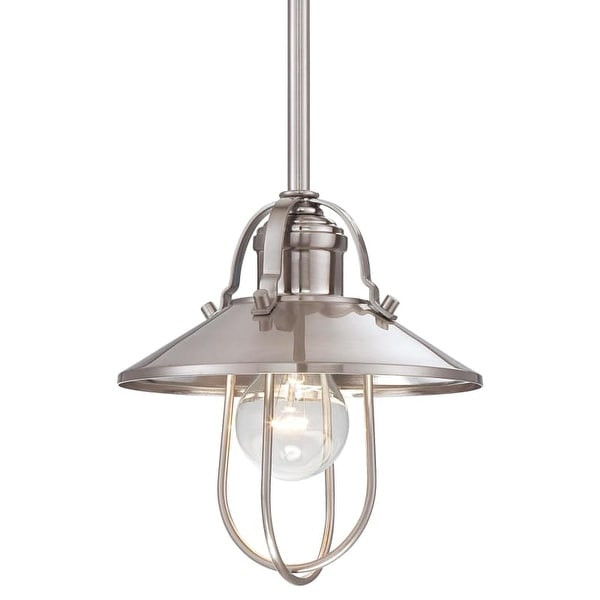 "Minka Lavery 2250-84 1 Light 8"" Height Indoor Mini Pendant in Brushed Nickel"