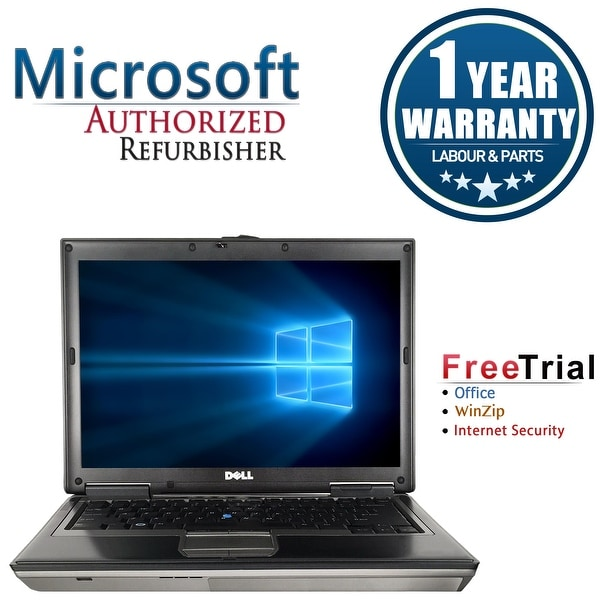 "Refurbished Dell Latitude D630 14.1"" Intel Core 2 Duo 1.8GHz 4GB DDR2 250GB DVD Win 10 Home 64 (1 Year Warranty) - gray"