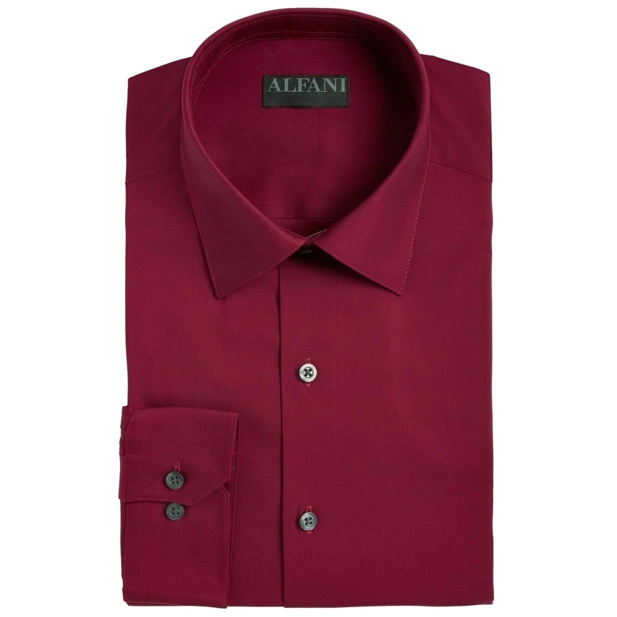 Alfani Mens Classic Fit Performance Stretch Solid Dress Shirt 16-16 1//2 32//33