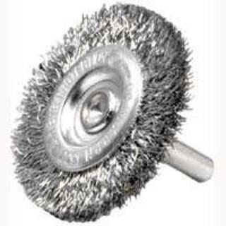 """Weiler 36412 Crimped Wheel Brush, 2"""", Fine Wire"""