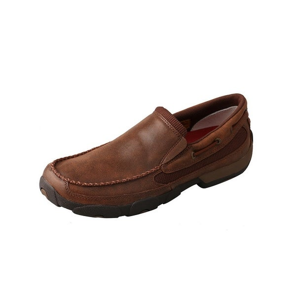 Twisted X Casual Shoes Mens Loafer Driving Mocs Slip On Brown