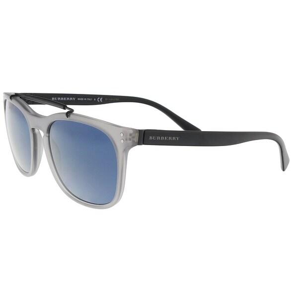 a93a0e107370 Shop Burberry BE4244 364080 Matte Grey Rectangle Sunglasses - 56-19 ...