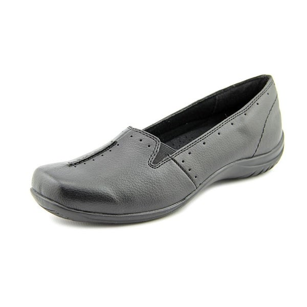 Easy Street Purpose Women W Square Toe Synthetic Black Loafer