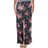 Aqua Womens Wide Leg Pants Floral Print High Rise
