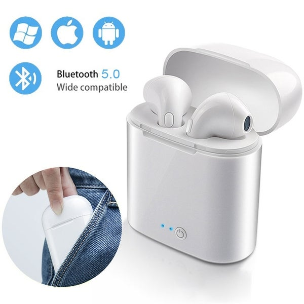 NEW Wireless EarPod Headphone EarBuds with Auto-Pairing & Charging Case (Universally Compatible - iOS and Android). Opens flyout.