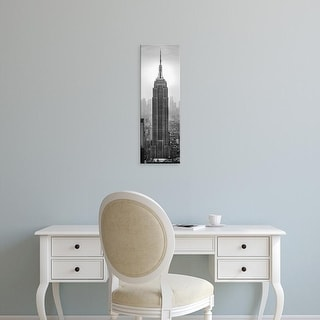Easy Art Prints Panoramic Image 'Empire State Building in a city, Manhattan, New York City, New York State' Canvas Art