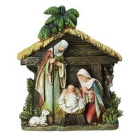 "8.5"" Joseph's Studio Holy Family Christmas Nativity Scene Figures - brown"