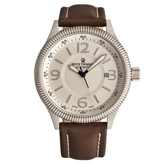 Link to Revue Thommen Men's 17060.2528 'Pilot' Silver Dial Brown Leather Strap Automatic Watch Similar Items in Men's Watches