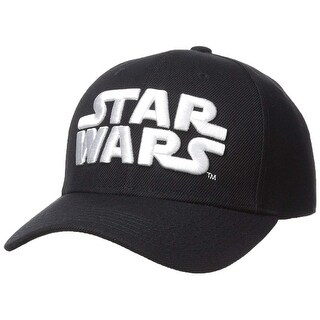 91e96bb9 Shop Official Star Wars Baseball Hat - Black/White 3D Logo - Free Shipping  On Orders Over $45 - Overstock - 27115577