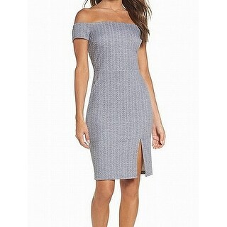 Ali & Jay Womens Off-Shoulder Knit Sheath Dress