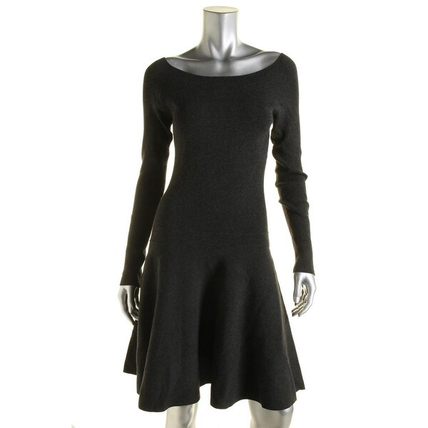 9f143b9a29 Shop Polo Ralph Lauren Womens Sweaterdress Knit Ribbed - Free Shipping  Today - Overstock.com - 13147847