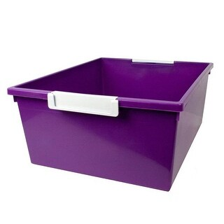 Romanoff Products 12 qt Purple Tray with Label Holder - 3 Each