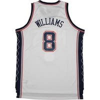 Deron Williams New Jersey Nets WhiteBlue 8 Swingman Jersey