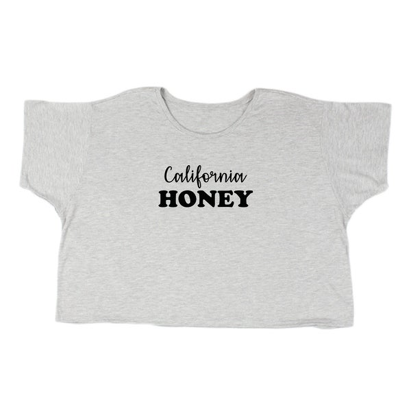 abcc52612 Shop California Honey Graphic Phrase Women's Flowy Boxy Tee - Free Shipping  On Orders Over $45 - Overstock - 19748950