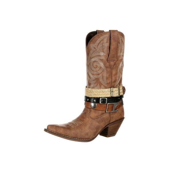 Durango Western Boots Womens Crush Accessory Snip Toe Brown