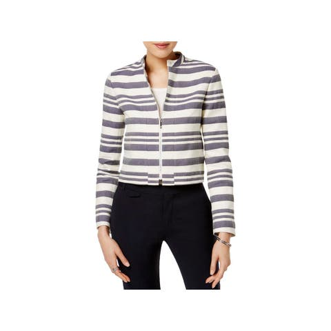 Tommy Hilfiger Womens Blazer Twill Striped