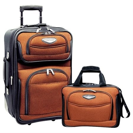802e757ab892 Shop Travel Select Amsterdam Two Piece Carry-On Luggage Set - Orange - Free  Shipping Today - Overstock - 15974058