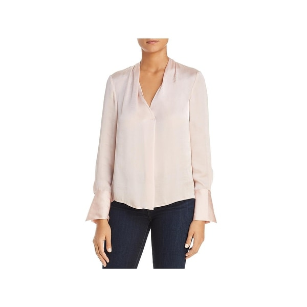 c4341c4f36898 Shop Kenneth Cole New York Womens Dress Top V-Neck Long Sleeve ...