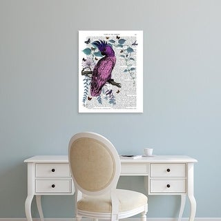 Easy Art Prints Fab Funky's 'Pink Parrot' Premium Canvas Art