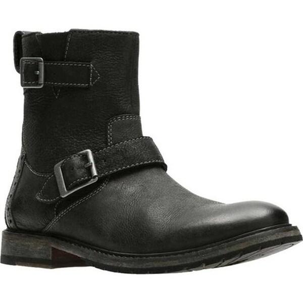 Shop Clarks Men S Clarkdale Cash Biker Boot Black Nubuck Ships To