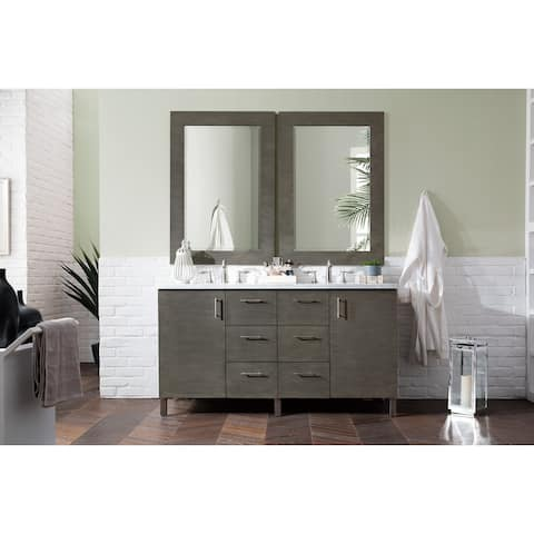 "Metropolitan 60"" Double Vanity, Silver Oak"