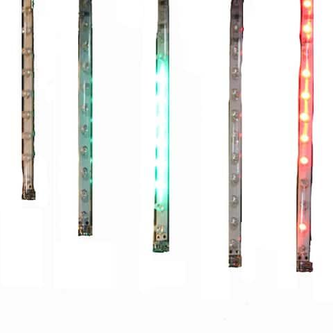 Kurt Adler 7-Inch 5-Light Multi Snowfall Outdoor Set with Adapter