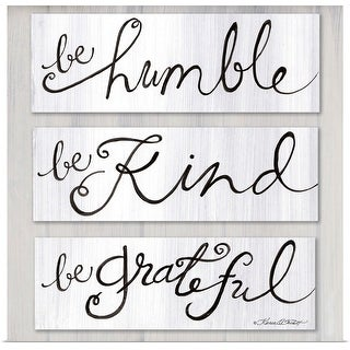"""Be Humble, Be Kind, Be Grateful"" Poster Print"
