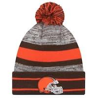 online retailer c8fea a6306 New Era 2019 NFL Cleveland Browns Cuff Pom Knit Hat Beanie Stocking Winter  Skull