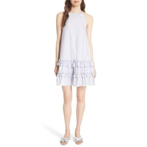 Rebecca Taylor Sky Sleeveless Cotton Sateen Tank Short Casual Dress, 4