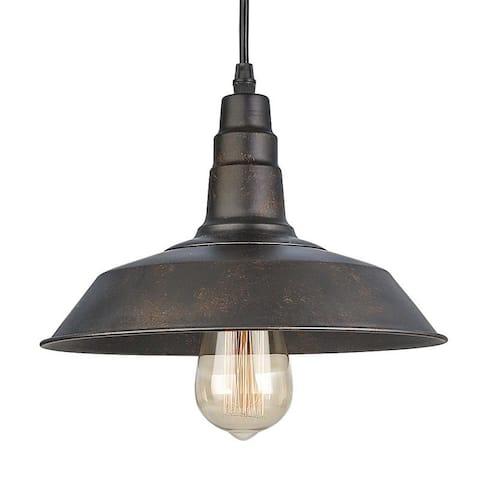 LNC 1-Light Rust Indoor Barn Pendant Lighting