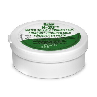 Oatey 30140 H-20-95 Water Soluble Tinning Flux, 1.7 Oz, Greenish-Gray