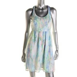 Self Esteem Womens Chiffon Open Back Sundress - XL