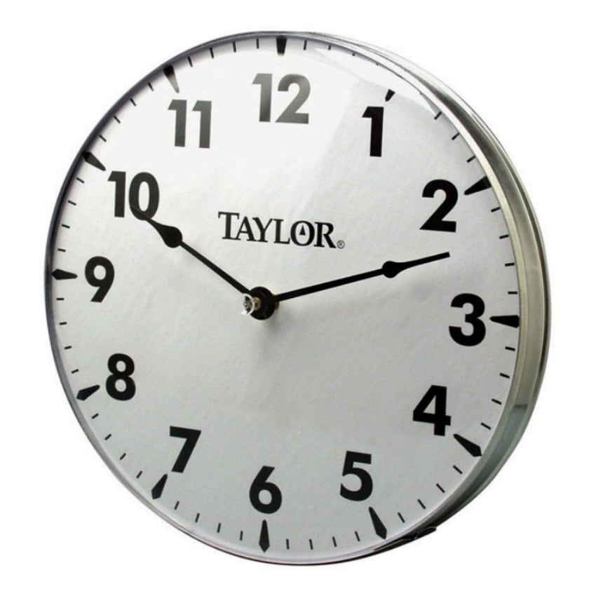 "Taylor 161 Metal Patio Clock, 18"" - Thumbnail 0"